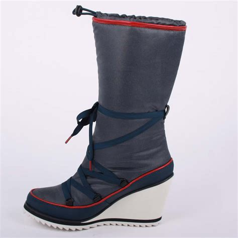 wedge snow boots lacoste womens snow boots shoes aubina slip on textile