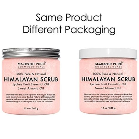 himalayan salt l and essential oils majestic pure himalayan salt body scrub with lychee