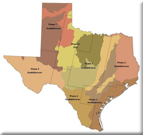 thematic map of texas texas ecological systems classification morap