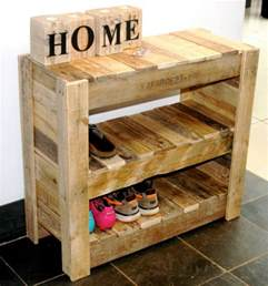 recycled pallet shoe rack pallet ideas recycled