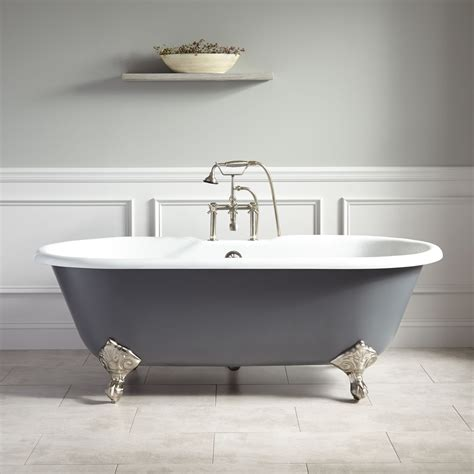 grey bathtub 66 quot sanford cast iron clawfoot tub imperial feet dark