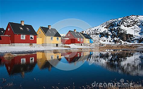 houses in greenland colorful houses in greenland royalty free stock photography image 35886457