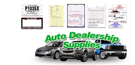 dealers in household accessories used car dealer supplies caboose printing
