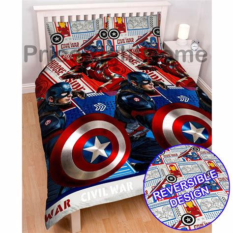 captain america bedding marvel captain america civil war duvet covers available