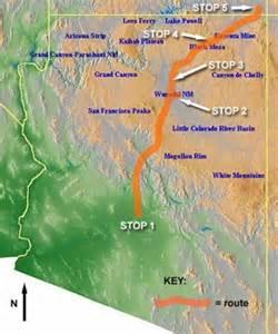 map of arizona deserts stop 3 module two