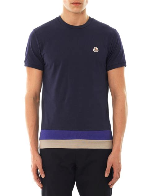 Monclercotton T Shirt moncler logo pocket crew t shirt esw ecommerce co uk