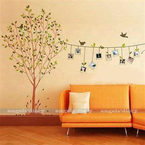 tree wall decals for living room removable photo frame tree vinyl art wall sticker decal