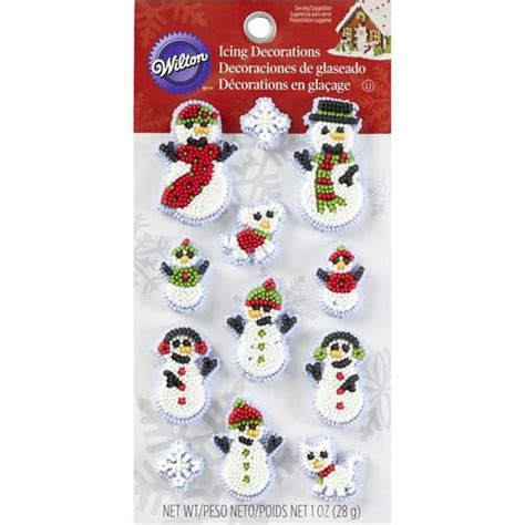 wilton christmas snowman family icing decorations wilton
