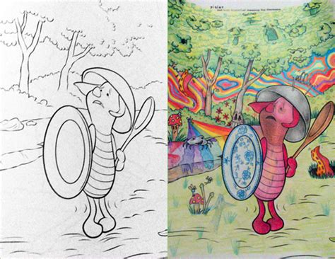 coloring book corruptions best coloring book crazily turned into corrupted