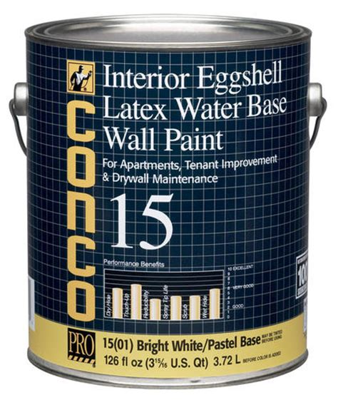 conco 15 flat bright white pastel water based int acrylic wall paint 1 gal at menards 174