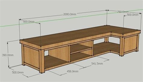 Corner L Stand by J Nelson Oak Custom L Shaped Backless Tv Stand Image Lounge Ideas Tv Stands