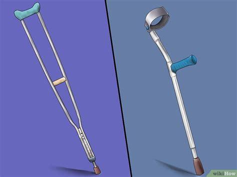 Penyangga Kaki 3 cara untuk mengenakan kruk tongkat penyangga kaki