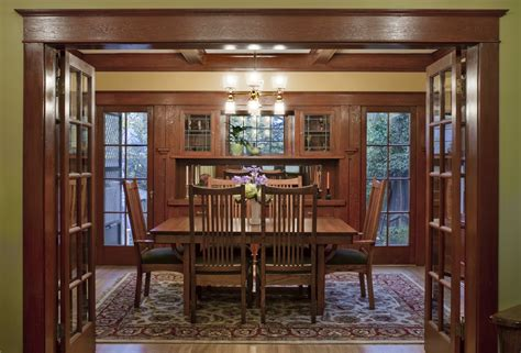 laurelhurst 1912 craftsman dining room after hooked on
