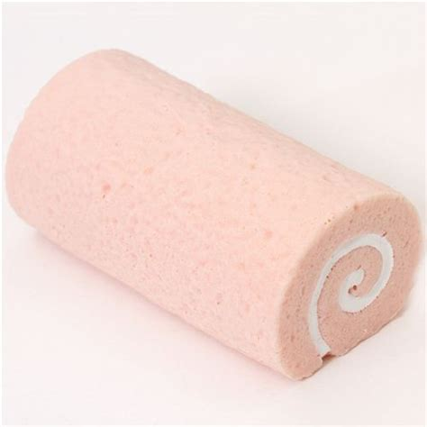 big pale pink sponge roll strawberry cake squishy food squishies squishies shop modes4u