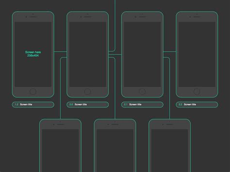 ios flow template sketch freebie free sketch app
