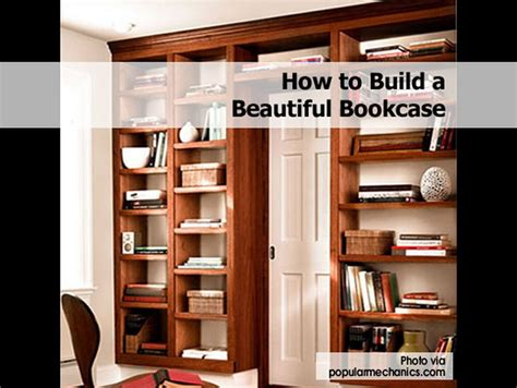 build  beautiful bookcase