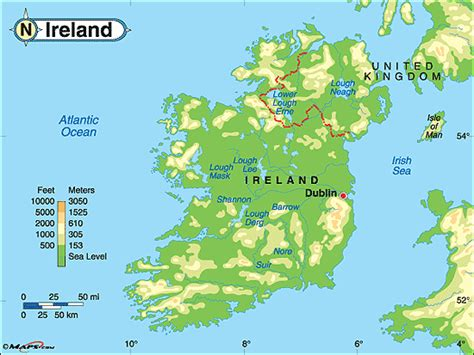 ireland physical map ireland physical map by maps from maps world s