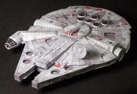 millennium falcon paper model papermau star wars millennium falcon paper model by