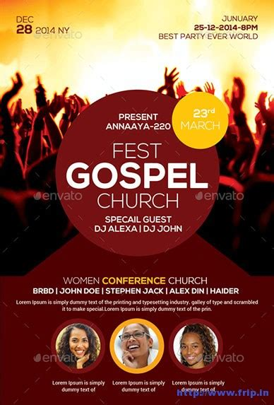 gospel flyer template gospel church flyer template church graphic design