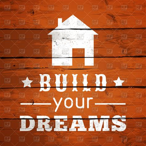 build your house free build your dreams with house icon on wooden background vector image of backgrounds textures