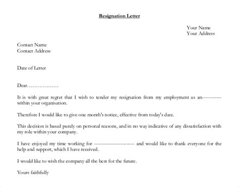 Resignation Letter Format Doc Pdf Resignation Letter 187 Form Of Resignation Letter Free Resume Cover And Resume Letter Sles