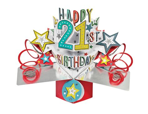 happy 21st birthday pop up greeting card cards kates
