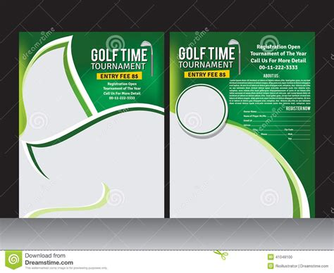 golf tournament program template golf flyer template stock vector image of chionship
