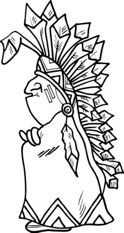 indian chief coloring page indian chief coloring page free printable coloring pages
