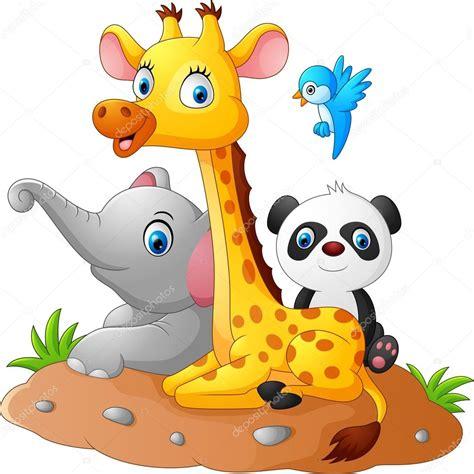 imagenes en formato jpg para descargar animales de dibujos animados feliz safari vector de