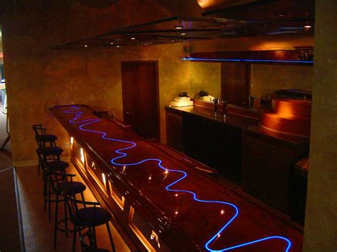 Lighted Bar Top by Fiber Optic Bar