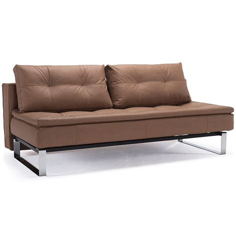Armless Sleeper Sofa Innovation Dual Armless Sleeper Brown Collectic Home