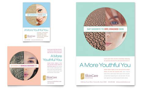 Skin Care Clinic Flyer Ad Template Word Publisher Free Skin Care Brochure Templates