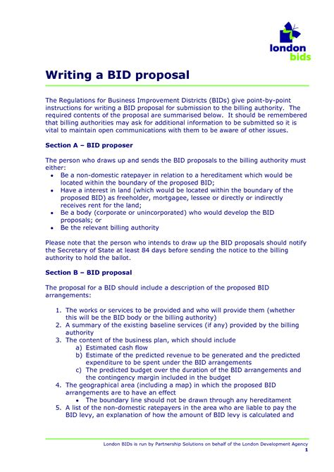 bid business 10 best images of sle bid form sle