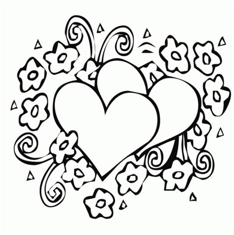 Coloring Pages Hearts And Roses by Papers Hearts And Roses Coloring Pages Printable