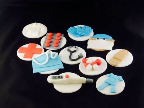 17 Best Images About Doctor Nurse Cupcake Toppers On Doctor Themed Cupcakes