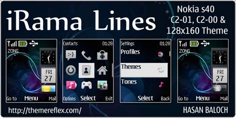 themes nokia mobile c1 irama lines live theme for nokia c1 01 c2 00 themereflex