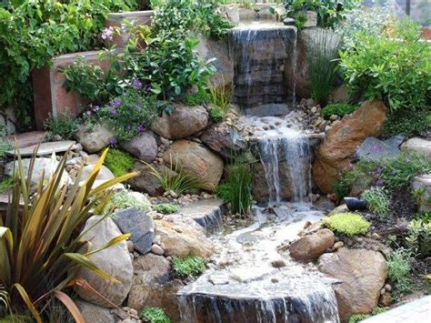 water in backyard 21 waterfall ideas to add tranquility to rock garden design