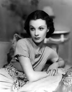 Viviene leigh in a pinned back 1930s hairstyle