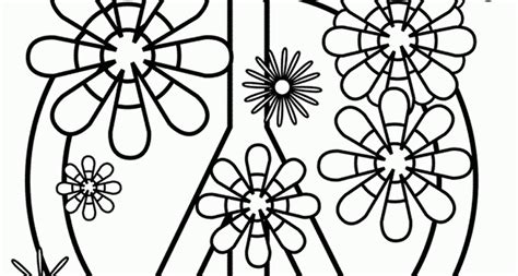 coloring pages of peace signs az coloring pages