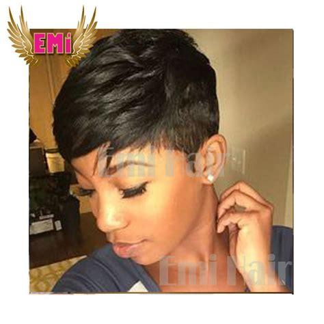 Pixie Cut Human Short Hair Wigs African American Hair