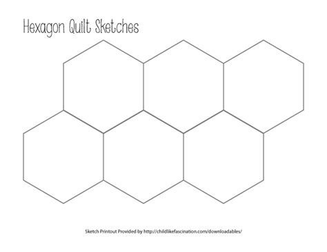 Printable Hexagon Quilt Template hexagon paper piecing templates quotes