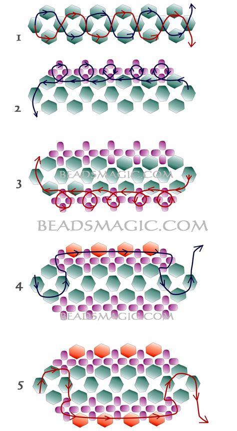 patterns for seed bead bracelets free pattern for bracelet violet 2