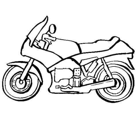 dibujo de motocicleta  colorear dibujosnet