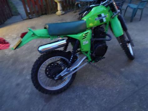Shock Klx 250 Kawasaki Klx 250 1981 Shock Green Enduro Vinduro