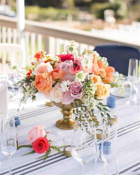 Flower Wedding Reception Centerpieces by Floral Wedding Centerpieces Martha Stewart Weddings