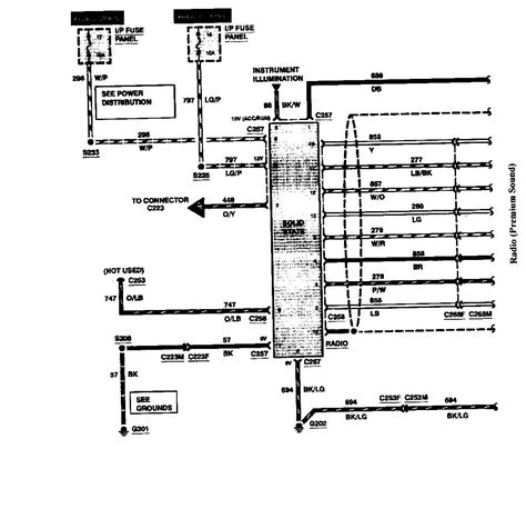 ford premium stereo wiring diagram 1983 ford radio wiring