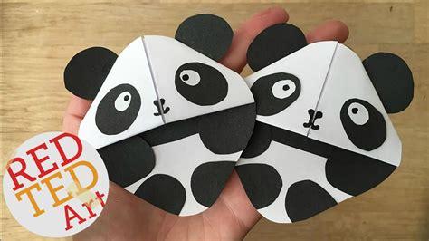 Origami Bookmark Panda - panda bookmark corner corner bookmarks and