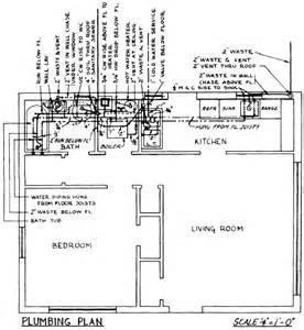 plumbing waste line diagrams residential plumbing diagrams