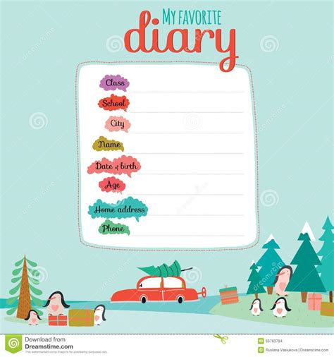 christmas design for notebook diary organizers stock