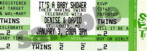 Ticket Baby Shower Invitations by Baby Shower Invitations